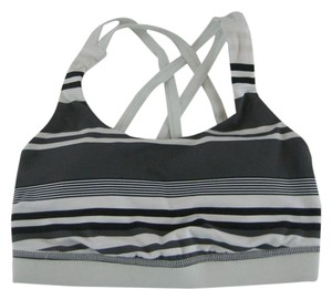 Lululemon Lululemon Energy Bra Groovy Stripe Nimbus Gray White Yoga Gym Run