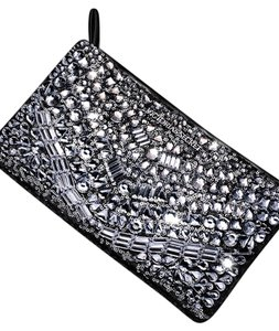 Victoria's Secret Rhinestones Sequins Silver Clutch