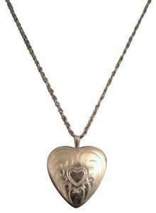Heart Locket Engraved Gold Plated