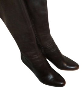 Ann Taylor Brown Leather Knee High Chocolate Brown Boots
