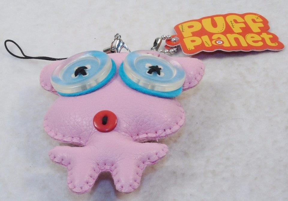 Pink Puff Planet Button-eyed with Keychain and Lanyard Clip-