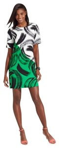 Vince Camuto short dress Black white green on Tradesy