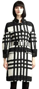 Burberry Prorsum Black And White Coat