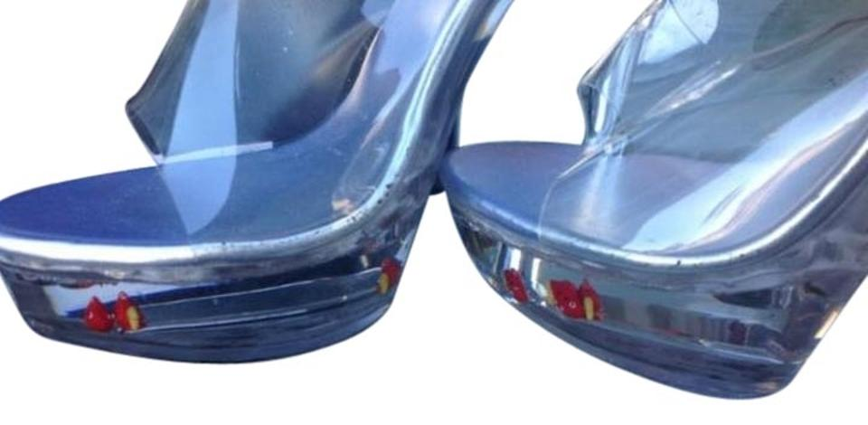 909349ddfe3 Clear Jante Water-filled Fish Heels Platforms Size US 10 Regular (M, B) 58%  off retail