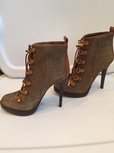 Tory Burch Suede Stiletto Olive/Camel Boots