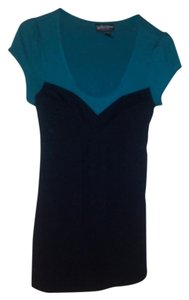 Self Esteem Top Teal & Black