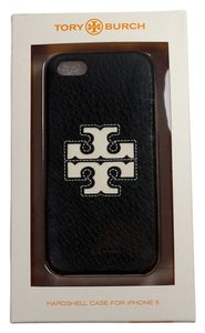 Tory Burch Tory Burch Jessica Hardshell Iphone 5/5S Case Black Leather White