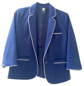 Nordstrom Trim Pipping Blue Blazer