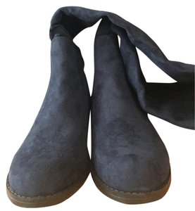 unisa Gillean Suede Dark Knee High Knee High Trendy Blue Boots