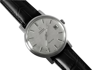 Omega 1970 Omega Geneve Vintage Mens Cal. 565 Automatic Watch with Quick-Setting Date - Stainless Steel