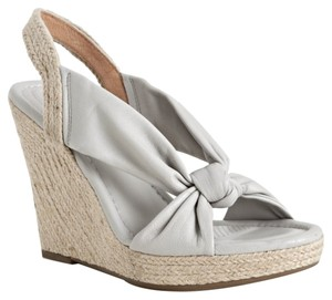 Ballasox by Corso Como Leather Sandal Espadrille Grey Wedges