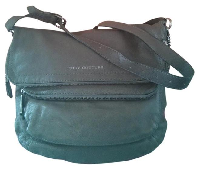 Item - Olive Green & Pink Leather Cross Body Bag