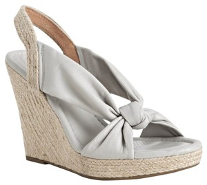 Corso Como Leather Sandal Espadrille Grey Wedges