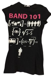 Charlotte Russe Punk Rock Band Music T Shirt Black