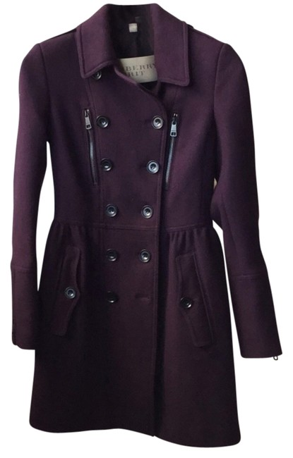 Item - Eggplant Winsleigh Wool Peplum Coat Size 4 (S)