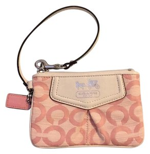 Coach Wristlet in Pink/white