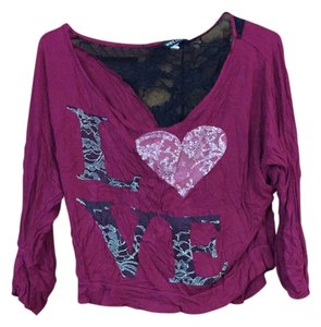 Wet Seal Lace Top Dark Pink/Purple