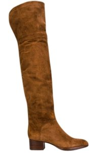 Chloé Grace Over The Knee Suede New MEDIUM BROWN Boots