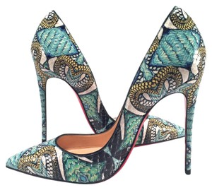 Christian Louboutin Inferno Green Pumps