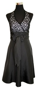 White House | Black Market Swing Satin Small Evening Halter Dress