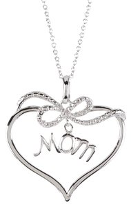 Savvy Cie Diamond Mom Heart Pendant Necklace - 0.01 ctw
