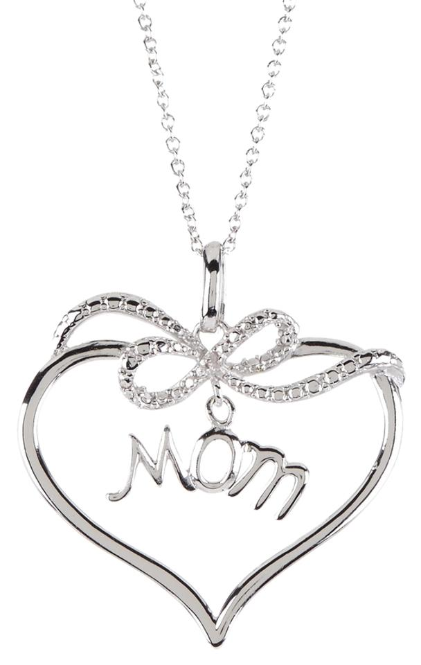 Savvy cie sliver diamond mom heart pendant 001 ctw necklace tradesy savvy cie diamond mom heart pendant necklace 001 ctw mozeypictures Image collections