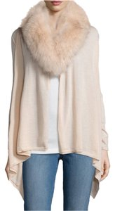 Alice + Olivia Izzy Fox Fur Fox Collar Cardigan