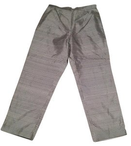 SilkLand Checkered Straight Pants Black & White