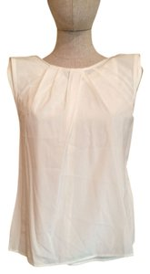 St. John Sleeveless Work Top cream