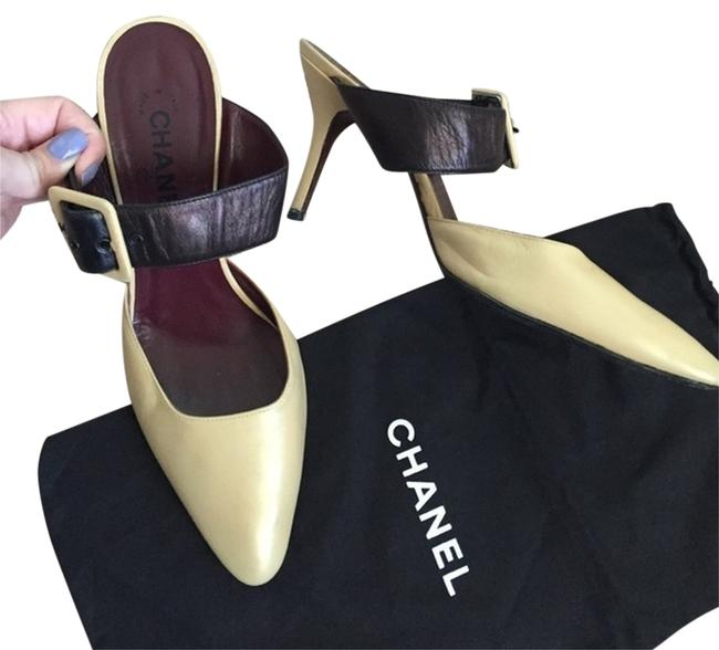 Item - Cream Strapped Heels. Buckle with Cc Logo. 2 Dust Bags Included Pumps Size US 9 Regular (M, B)