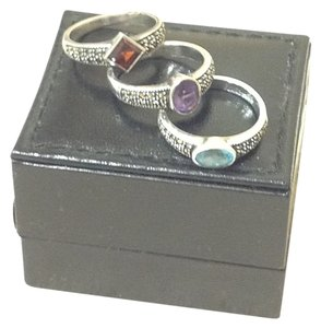 Judith Jack Judith Jack Sterling silver set of 3 Marcasite stacking rings
