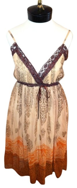 brown, orange, gold Maxi Dress by Funky People