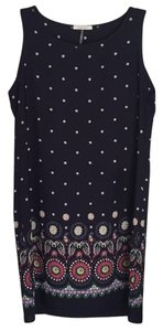 Amber Blue short dress Navy Blue/ Multi on Tradesy