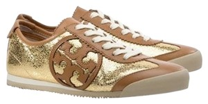 Tory Burch Murphey Sneakers Leather Logo Brown/Gold Athletic