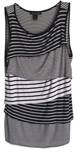 White House | Black Market Top Black/white & Navy/white stripes