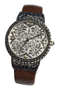 Geneva Elite Western style cuff watch with large silver dial