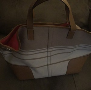 Coach Two Tone Luggage Beach Bag