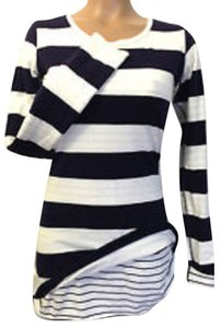 Lululemon LULULEMON Every Yogi Long Sleeve Reversible Deep Indigo Stripe Quiet Stripe Sz 8