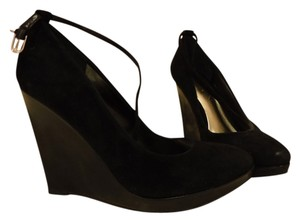 Guess Suede Black Platforms