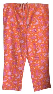 Lilly Pulitzer Capris Orange/Pink/White