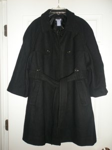 Gap NWT Gap Maternity Black Wool Blend Belted Coat XL