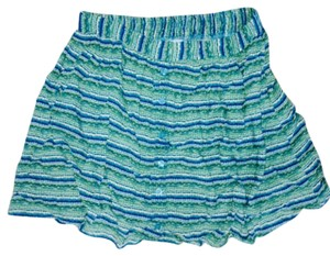 Mossimo Supply Co. Mini Skirt Green & Blue