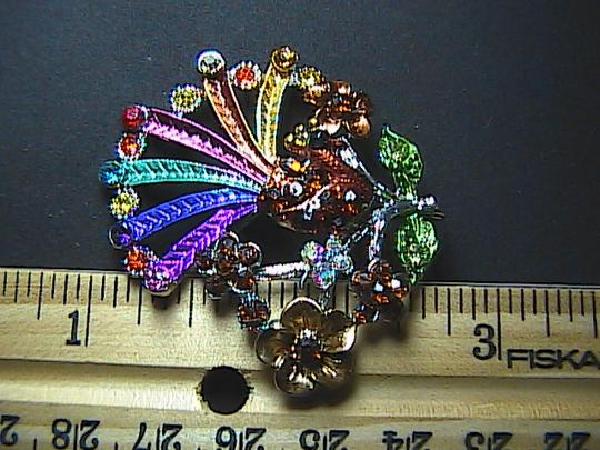 Other Fashion Silver Tone Multi Color Flower Brooch