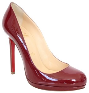 Christian Louboutin Patent Leather Platform Neofilo 120mm Red Pumps