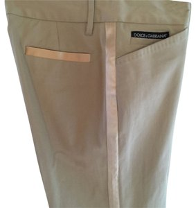 Dolce&Gabbana Straight Pants Beige/satin