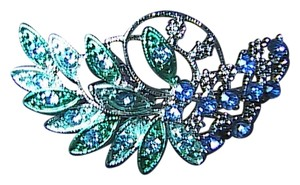 Other Stunning Fashion Green & Blue Rhinestone Brooch