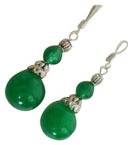 New Fancy Jade Tibet Handmade Dangle Earrings