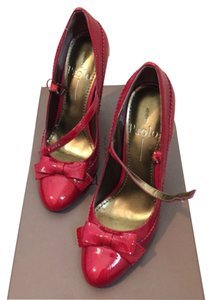 Linea Paolo Red patent Platforms