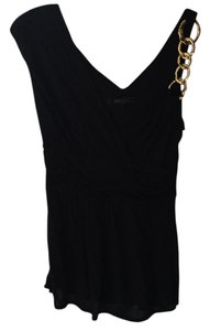 BCBGMAXAZRIA Bcbg Black Gold Medal Hardware Max Top