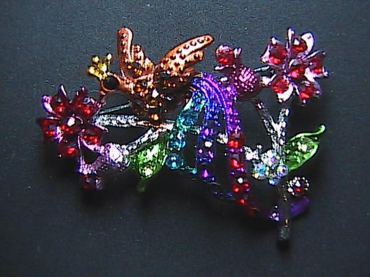Other Beautiful Multi Color Peacock Rhinestone Brooch